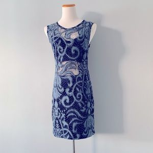 Oh My Love Crochet Fitted Sleeveless Dress M